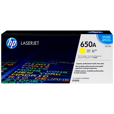 HP 650A (CE272A) Yellow Original LaserJet Toner Cartridge CP5525 YIELD 13000