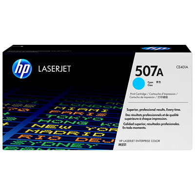 HP 507A (CE401A) Cyan Original LaserJet Toner Cartridge YIELD 6000