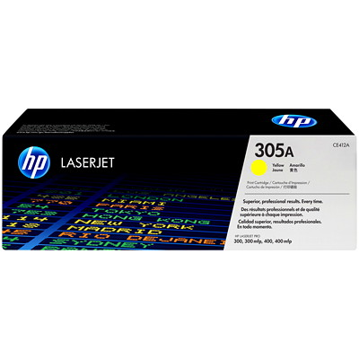 HP 305A (CE412A) Yellow Original LaserJet Toner Cartridge PRO 300/400 COLOR MFP M375NW M475DN/DW M451DN/DW/NW YD2600