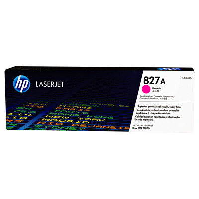 HP 827A (CF303A) Magenta Original LaserJet Toner Cartridge COLOR LASERJET ENTERPRISE FLOW M880 MFP SERIES  YIELD 32 000