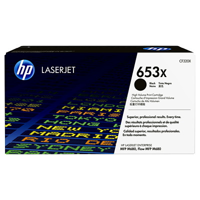 HP 653X (CF320X) Black High Yield Original LaserJet Toner Cartridge M680 MFP PAGE YIELD 21000