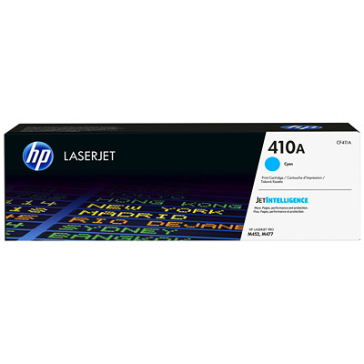 HP 410A (CF411A) Cyan Original LaserJet Toner Cartridge LASERJET M452 M477 SERIES YIELD 2300