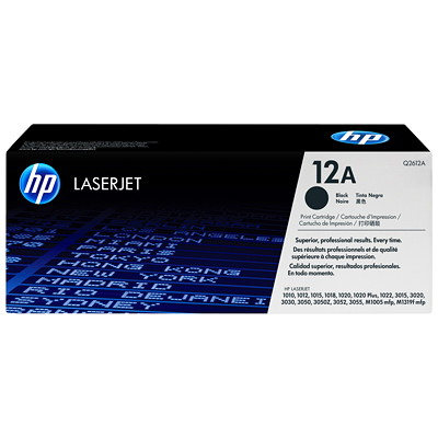HP 12A (Q2612A) Black Original LaserJet Toner Cartridge BLACK FOR LASERJET MODEL 1012 PRINTER PAGE YIELD 2000