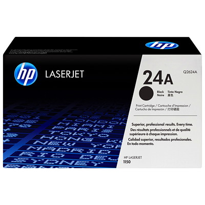 HP 24A (Q2624A) Black Original LaserJet Toner Cartridge LASERJET PRINTER 2500 PG YIELD