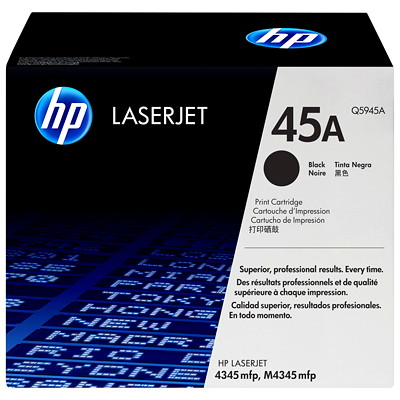 HP 45A (Q5945A) Black Original LaserJet Toner Cartridge  TONR