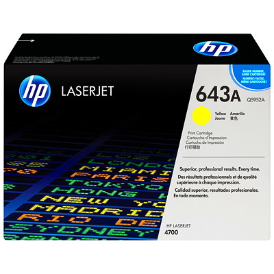 HP 643A (Q5952A) Yellow Original LaserJet Toner Cartridge 0 PAGE YIE