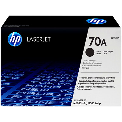 HP 70A (Q7570A) Black Original LaserJet Toner Cartridge CARTRIDGE