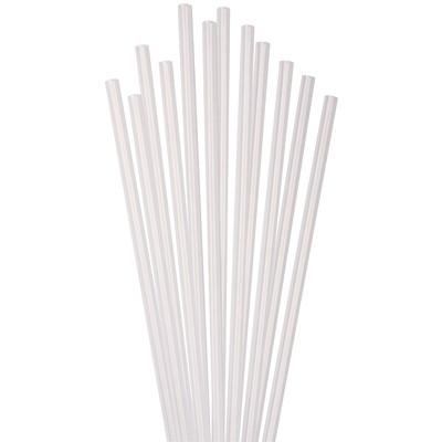 "Café Express Plastic Milkshake Straws, White, 8"", 250/BX 250/BX 100% RECYCLABLE"