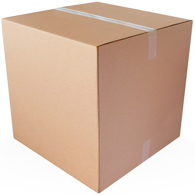 "Crownhill Plain Brown Kraft 16""L x 16""W x 16""H Corrugated Shipping Boxes, 25-Pack"
