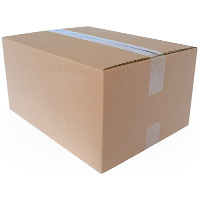 "Crownhill Plain Brown Kraft 6""L x 6""W x 4""H Corrugated Shipping Boxes, 25-Pack"