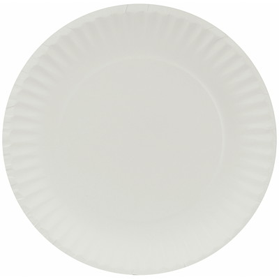 "iECO 9"" Recyclable White Paper Plates RECYCLABLE AND BIODEGRADABLE"