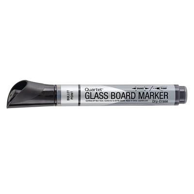 Marqueurs effaçables à sec de première qualité pour surfaces en verre Quartet, noir, boîte de 12 PREMIÈRE QUALITÉ  BTE DE 12