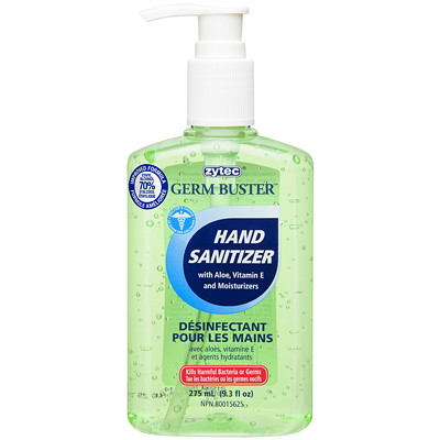 zytec Germ Buster Hand Sanitizer w/ Aloe, 275 mL WITH ALOE  PUMP