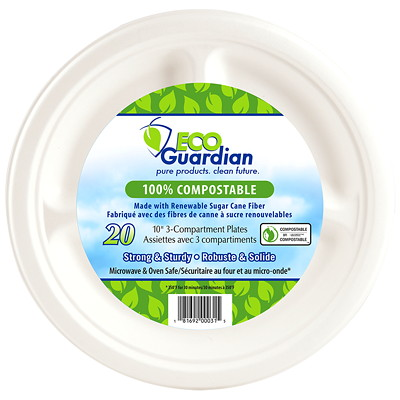 Eco Guardian Round Plates COMPOSTABLE  50PK
