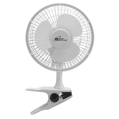 "Royal Sovereign Compact 6"" 2-In-1 Clip-On and Desk Fan 6 INCH WHITE"