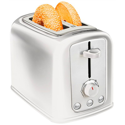 Hamilton Beach Cool-Touch 2-Slice Toaster WHITE  COOL TOUCH