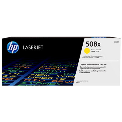 HP 508X Yellow High Yield Original LaserJet Toner Cartridge (CF362X) HIGH YIELD 9500 PGS LASERJET M553  M577 SERIES
