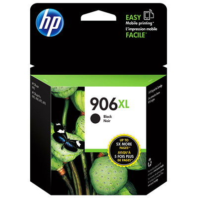 HP 906XL Black High Yield Original Ink Cartridge (T6M18AN) 1500 PG YIELD