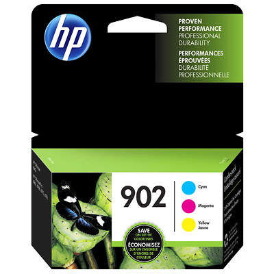 HP 902 Cyan, Yellow And Magenta Standard Yield Original Ink Cartridge (T0A38AN) 3 X 315 PG YIELD