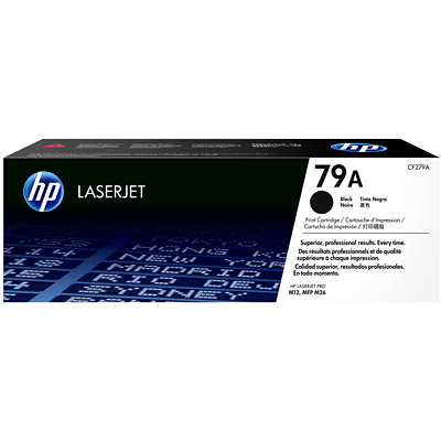 HP 79A Black Original LaserJet Toner Cartridge (CF279A) HP LJ PRO M12W  MFP 26NW 1000 PG YIELD