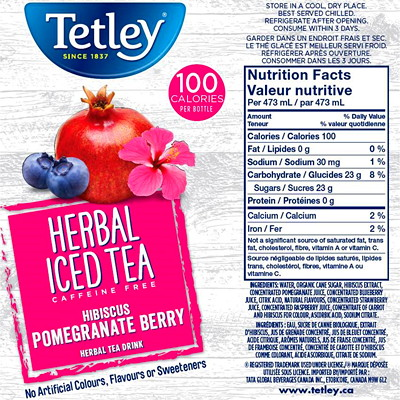 Tetley Ready-To-Drink Herbal Iced Tea 12 X 473ML