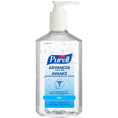 Purell Advanced Gel Hand Sanitizer, 70% Alcohol Content, 354 mL PUMP BOTTLE