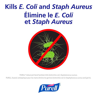 Purell Advanced Gel Hand Sanitizer, 70% Alcohol Content, 59 mL, 24/CS  2 OZ. FLIP CAP BOTTLE