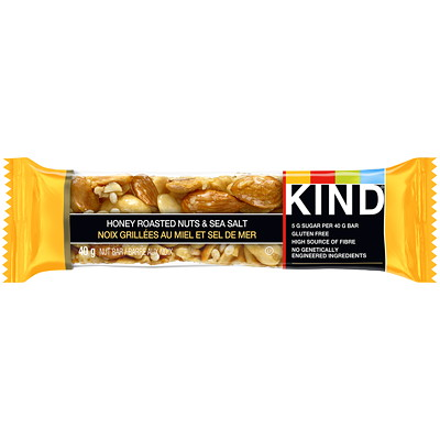 KIND Bars, Honey roasted nuts & sea salt, 12 bars/box SALT 12X40G