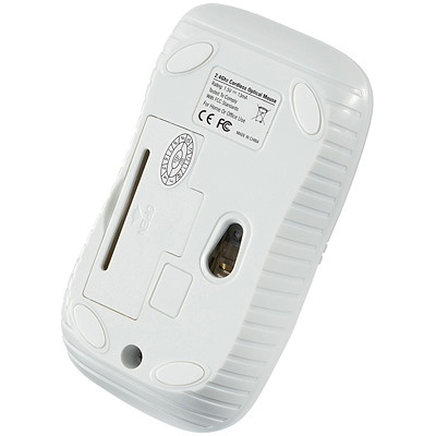 Verbatim Wireless Optical Notebook Mouse Commuter Series - mouse - matte white IDEAL FOR RIGHT/LEFT HAND USE 2.4GHZ RELIABILITY  1200 DPI