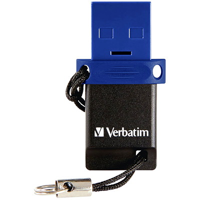 Verbatim Store 'n' Go Dual USB Flash Drive for USB-C Devices - USB flash drive - 32 GB TRANSFER FILES-NO WI-FI NEEDED ATTACHED LANYARD