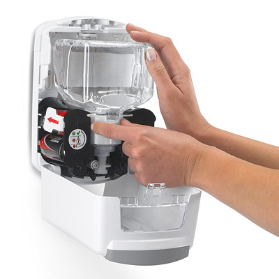 Gojo LTX Touch-Free Foam Hand Soap Dispenser, Grey/White, 700 mL Capacity GRAY/WHITE