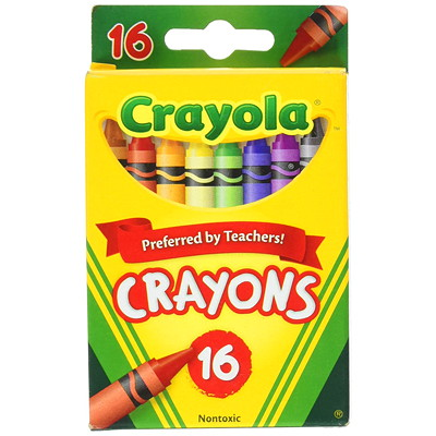 Crayola Crayons, Assorted colours, 16/PK COLOURS