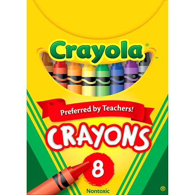 Crayola Crayons, Assorted Colours, 8/PK NON-TOXIC 3-5/8 INCHES LONG