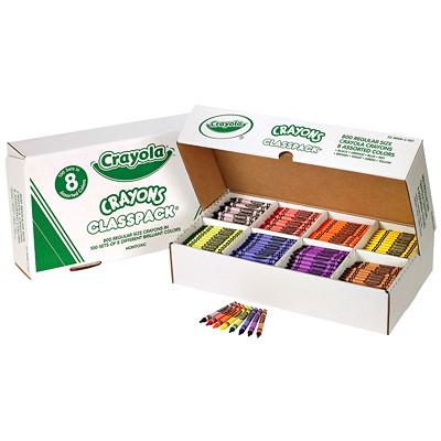 Crayola Crayons, Assorted Colours, 800/BX  REGULAR CRAYONS - 8 COLOURS