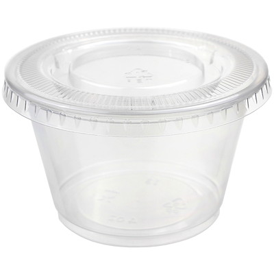 Titan Clear Portion Cups And Lids, 12/Pk  12/PACK  PLASTIC