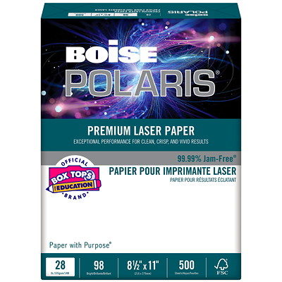 Boise Polaris Premium Laser Paper, FSC Certified, Ream  500/PK WHT REPLACING LL1032