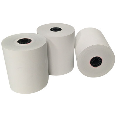 """McDermid BPA-Free Thermal Paper Rolls, Thermal, White, 3 1/8"""", 200', 50/CT 2-7/8"""" DIA."""