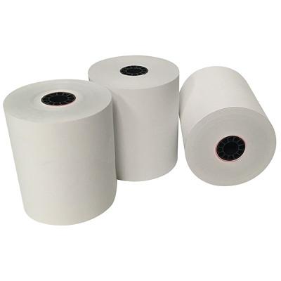 Rouleaux de papier thermique sans BPA McDermid 31/8PO X 200PI 2 7/8 PO DIAM.
