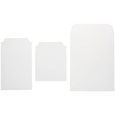 "Ztuff White Self-Seal Rigid Mailers 8.5"" X 13"" WHITE CHIPBOARD SELF SEAL"