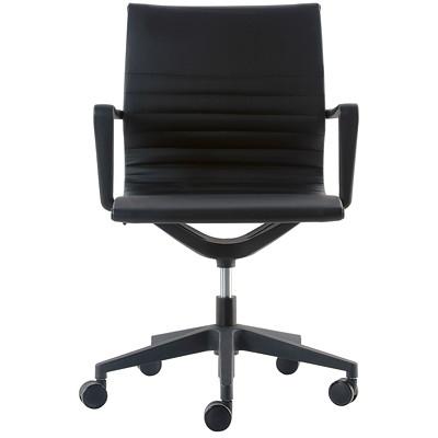 TASK CHAIR  BLACK VINYL FLEX TILT  SEAT HEIGHT ADJUSTM SLEEK DESIGN