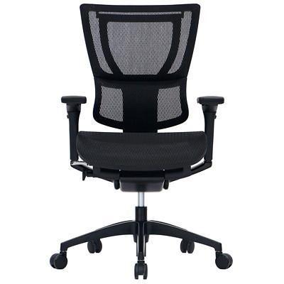 Eurotech iOO Mid-Back Synchro-Tilt Black Mesh Chair  BLACK FRAME SYNCHRO TILT LUMBAR SUPPORT SYSTEM SEAT DEP