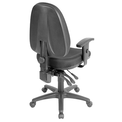 RealSpace Pro 8000 Series Multifunction Task Chair  EBONY FABRIC SEAT AND BACK EXTRA THICK MOLDED FOAM