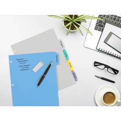 Avery Big Tab Write & Erase Plastic Dividers, Multi-Coloured, Letter-Size, 5-Tabs/ST, 1-Set/PK REFERENCE DIVIDERS 1 SET/PKG