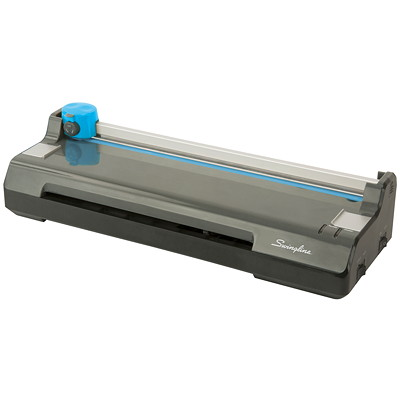 "Swingline 2-in-1 Laminator and Trimmer Combo 9""/MIN THRU SPEED 4MIN WARMUP 5MIL CAP BLK W 5EZPOUCH"