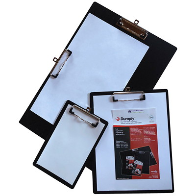 "VLB StayClean Duraply Black Clipboard 8.5""X11"" NOTE SIZE  BLACK"