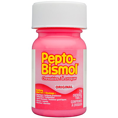 Pepto-Bismol Original ChewableTablets CHEWABLE TABLETS