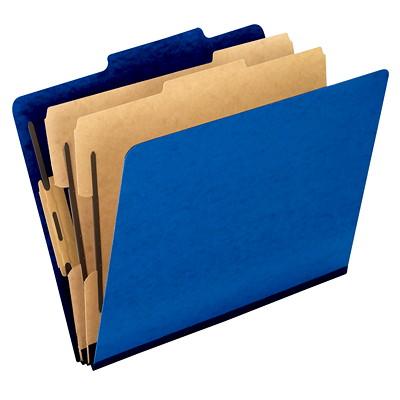 Chemise de couleur bleu à intercalaires format lettre Pendaflex 2PO EXT  2 INTERCALAIRES 6 SERRE-FEUILLES