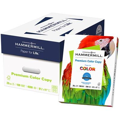 """Hammermill Colour Copy Digital 8 1/2"""" x 11"""" Paper, 28 lb. 28LB LETTER PHOTOWHITE FSC CERTIFIED ACID FREE"""