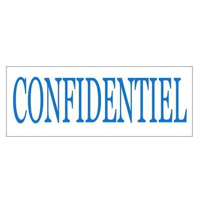 "Trodat Printy 4911 Climate Neutral ""CONFIDENTIEL"" Self-Inking Stamp  SELF INKING STANDARD SIZE WATER BASED TRODAT S-PRINTY"