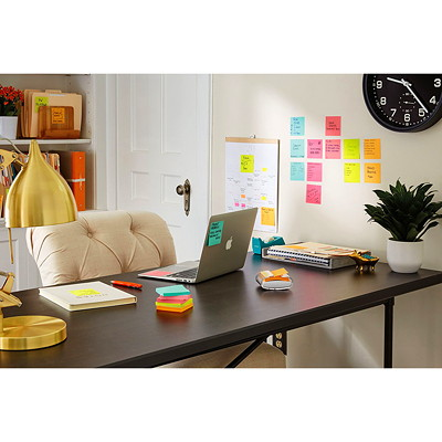 "Post-it Original Super Sticky Pop-Up Notes in Miami Collection Colours, Unlined, 3"" x 3"", 90 Sheets/Pad, 6 Pads/PK 3""X3""  6PACK"